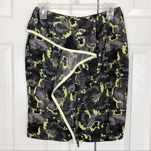 Rachel Roy abstract floral pencil skirt